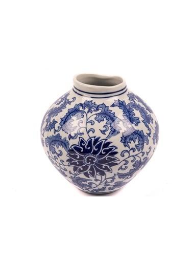 Mikasa Moor Blue Flower Yuvarlak Porselen Vazo 9x20cm Mavi